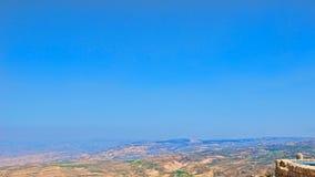 κοιλάδα της Ιορδανίας Στοκ Φωτογραφία