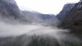 Κοιλάδα της Misty στη Νορβηγία απόθεμα βίντεο