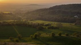 Κοιλάδα του Γκλούτσεστερ στο χρονικό σφάλμα ηλιοβασιλέματος απόθεμα βίντεο
