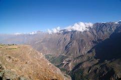 κοιλάδα του Περού colca Στοκ Εικόνες