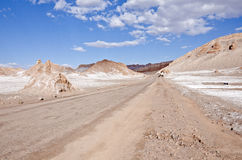 κοιλάδα φεγγαριών ερήμων της Χιλής atacama 7 Στοκ εικόνα με δικαίωμα ελεύθερης χρήσης