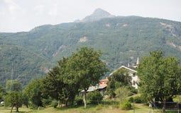 Κοιλάδα Aosta στην Ιταλία Στοκ φωτογραφία με δικαίωμα ελεύθερης χρήσης