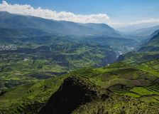 Κοιλάδα Colca στο Περού Στοκ Εικόνα