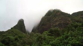 Κοιλάδα Iao σε Maui Χαβάη απόθεμα βίντεο