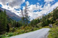 Κοιλάδα Innergschlöss στις Άλπεις στοκ φωτογραφία