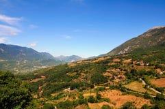 κοιλάδα roveto του Abruzzo Στοκ φωτογραφία με δικαίωμα ελεύθερης χρήσης
