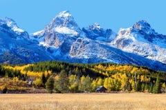 Κοιλάδα Teton το φθινόπωρο Στοκ Εικόνες