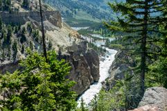 Κοιλάδα Yellowstone που βλέπει από την περιοχή πύργων στοκ φωτογραφίες με δικαίωμα ελεύθερης χρήσης