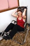 κοιλιακό workout στοκ φωτογραφίες