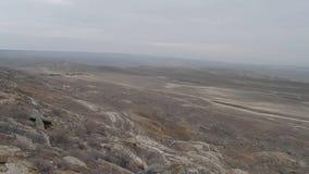 Κοιλότητα Karagiye Καζακστάν απόθεμα βίντεο