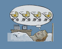 κοιμισμένη άτεκνη γυναίκα πτώσεων Στοκ Εικόνες