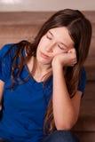 κοιμισμένο μειωμένο κορίτσι Στοκ φωτογραφία με δικαίωμα ελεύθερης χρήσης