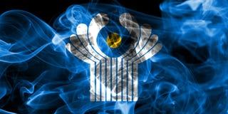 Κοινοπολιτεία της σημαίας καπνού ανεξάρτητων πολιτειών στοκ εικόνες με δικαίωμα ελεύθερης χρήσης