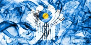 Κοινοπολιτεία της σημαίας καπνού ανεξάρτητων πολιτειών στοκ εικόνα με δικαίωμα ελεύθερης χρήσης