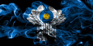 Κοινοπολιτεία της σημαίας καπνού ανεξάρτητων πολιτειών στοκ φωτογραφία