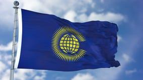 Κοινοπολιτεία των εθνών που κυματίζουν τη σημαία στοκ εικόνα