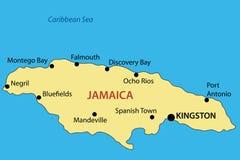 Κοινοπολιτεία της Τζαμάικας - χάρτης διανυσματική απεικόνιση