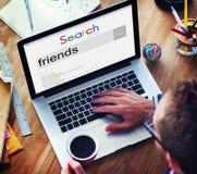 Κοινοτική έννοια ομάδας υποτροφίας φιλίας φίλων Στοκ Εικόνα