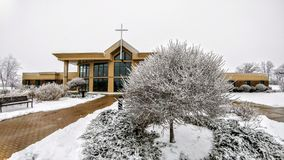 Κοινοτική εκκλησία Crossway - Μπρίστολ, WI στοκ φωτογραφίες