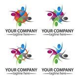 Κοινοτική διανυσματική έννοια λογότυπων ανθρώπων διανυσματική απεικόνιση
