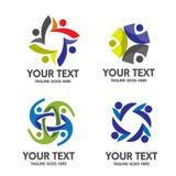 Κοινοτικό διάνυσμα λογότυπων ανθρώπων Στοκ εικόνες με δικαίωμα ελεύθερης χρήσης