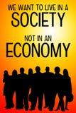 Κοινωνία και οικονομία διανυσματική απεικόνιση