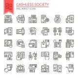 Κοινωνία Cashless διανυσματική απεικόνιση