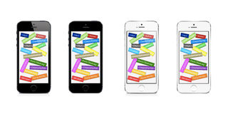 Κοινωνικά δίκτυα και κοινωνικά μέσα στο iPhone 5 της Apple διανυσματική απεικόνιση
