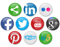 Κοινωνικά δίκτυα Στοκ εικόνα με δικαίωμα ελεύθερης χρήσης