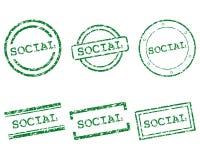 Κοινωνικά γραμματόσημα Στοκ Φωτογραφία