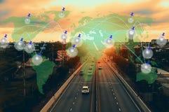 Κοινωνικά δίκτυο και σημείο Στοκ Εικόνα
