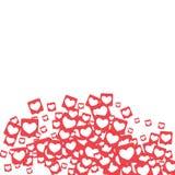 Κοινωνικά εικονίδια μέσων Στοκ Εικόνα