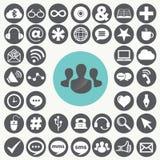 Κοινωνικά εικονίδια δικτύων που τίθενται Διανυσματική απεικόνιση