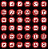 Κοινωνικά εικονίδια δικτύων Στοκ Φωτογραφία