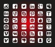 Κοινωνικά εικονίδια δικτύων Στοκ Εικόνες