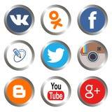 Κοινωνικά εικονίδια μέσων Στοκ εικόνα με δικαίωμα ελεύθερης χρήσης