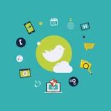 Κοινωνικά εικονίδια μέσων διανυσματική απεικόνιση