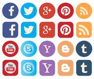 Κοινωνικά εικονίδια μέσων Στοκ φωτογραφία με δικαίωμα ελεύθερης χρήσης