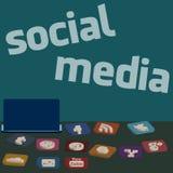 Κοινωνικά εικονίδια μέσων Στοκ Φωτογραφίες