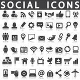 Κοινωνικά εικονίδια ελεύθερη απεικόνιση δικαιώματος