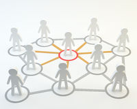Κοινωνικά κοινοτικά επικεφαλής άτομα δικτύων Στοκ Εικόνες