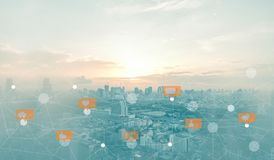 Κοινωνικά μέσα και ψηφιακό δίκτυο στοκ εικόνες
