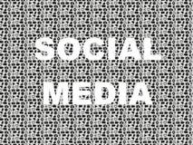 Κοινωνική λέξη μέσων στο υπόβαθρο με το σύνολο εικονιδίων Στοκ Φωτογραφία