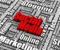 Κοινωνικά μέσα διανυσματική απεικόνιση