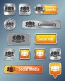 Κοινωνικά στοιχεία Ιστού δικτύων Στοκ εικόνα με δικαίωμα ελεύθερης χρήσης