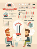 Κοινωνικά infographic στοιχεία μέσων Στοκ Φωτογραφία