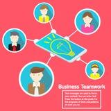 Κοινωνικές δίκτυο και ομαδική εργασία επιχειρησιακού Smartphone Στοκ Εικόνες