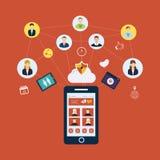 Κοινωνικές δίκτυο και ομαδική εργασία ελεύθερη απεικόνιση δικαιώματος