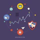 Κοινωνικές ασφάλεια και προστασία δεδομένων δικτύων ελεύθερη απεικόνιση δικαιώματος