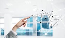 Κοινωνικές επικοινωνία και δικτύωση ως έννοια για το ηλεκτρονικό εμπόριο στοκ φωτογραφία